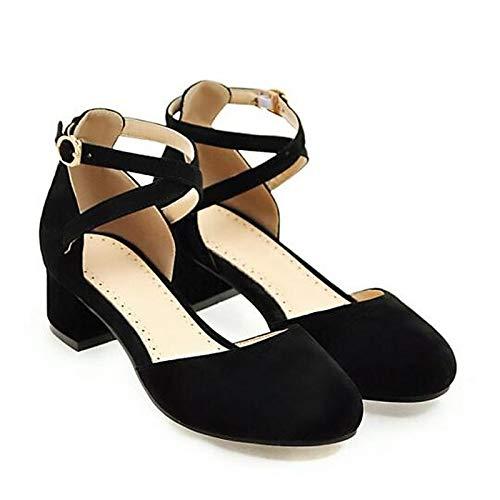 Black Chunky Gray Women'S Purple Comfort Shoes QOIQNLSN Black Heels Heel Spring Suede PqBYx7