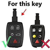 5 Buttons Silicone Key Case Fob For Volvo XC90