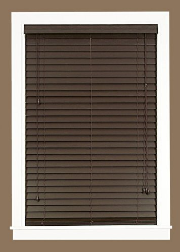 Home Furnishings (Achim Home Furnishings Madera Falsa 2-Inch Faux Wood Blind, 33-Inch by 64-Inch,)