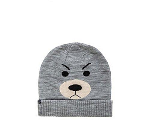 Womens Winter Angry Teddy Bear Ear Warm Knitted Woolen Beanie Snow Hats