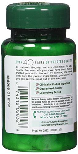 Nature's Bounty Melatonin 1 mg, 180 Tablets by Nature's Bounty (Image #4)