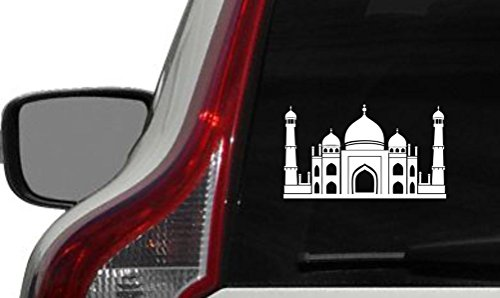 Price comparison product image Mosque Place of Worship Islam Muslim Mecca Car Vinyl Sticker Decal Bumper Sticker for Auto Cars Trucks Windshield Custom Walls Windows Ipad Macbook Laptop and More (WHITE)