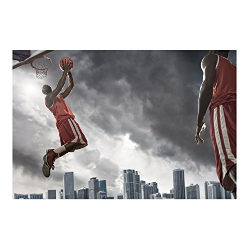 Non-woven Wallpaper - Thunderstorm Slam Dunk - Mural Wide wallpaper wall mural photo feature wall-art wallpaper murals bedroom living room