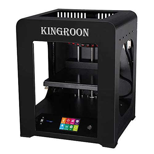 3D Printer, Kingroon Fully Assembled with Touch Screen Assisted Level and Printing Space(200x200x225mm), Free MicroSD Card Preloaded with Printable 3D Models