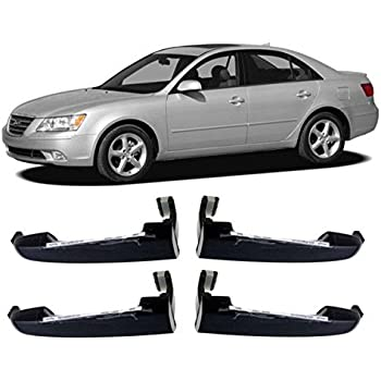 Hyundai Motors Oem 826513k000 Outside Door Catch Handle Black 4 Pc Set For 05 06 07