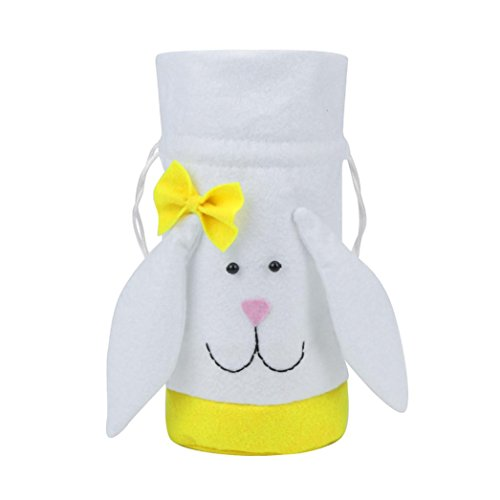 GBSELL Easter Cute Rabbit Cartoon Bag Gift Candy Case Creative Present Home Accessory (Yellow)