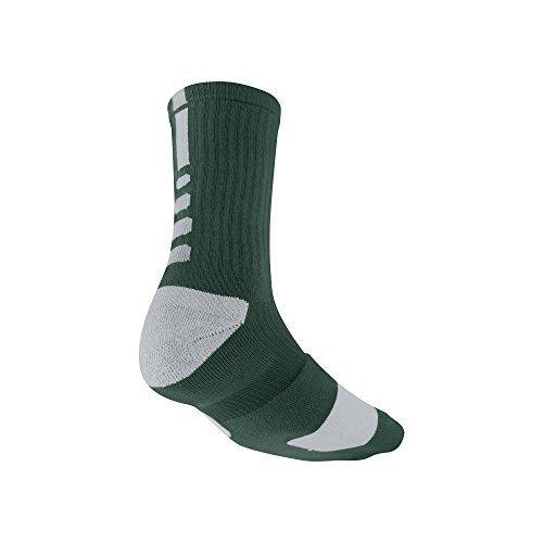 Nike Elite Basketball Socks Dark Green and White Size M (Socks And White Elite Nike Green)