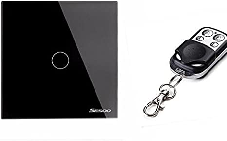 Wireless Remote Control Touch Light Switch SESOO 2 Gang 1 Way Smart Wall Switch