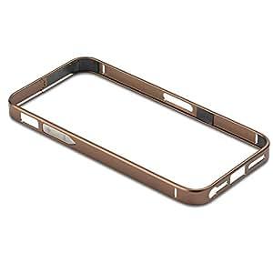 PanzerGlass Alu07 - Funda tipo borde para Apple iPhone 5/5s, café
