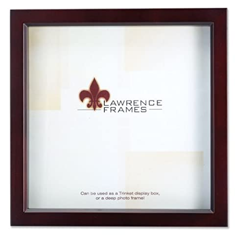 Lawrence Frames 795112 Espresso Wood Treasure Box Shadow Box Picture Frame, 12 by 12-Inch