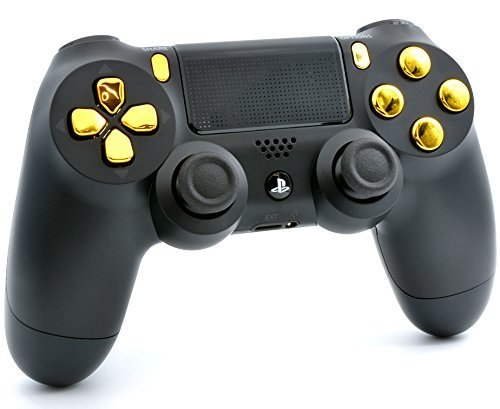 Amazon.com: Black/Gold PS4 PRO Modded Controller for Rapid ...