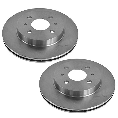 Front Vented Brake Rotors Pair Set for 91-02 Saturn S Series SC SL SW ()