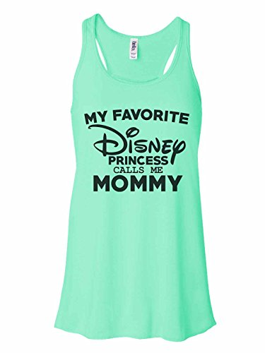 Women's Tank Top Bella Soft My Favorite Disney Princess Calls Me Mommy Medium, Mint