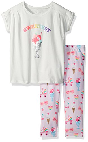 The Children's Place Baby Toddler Girls' Top and Leggings Set, Shell 74838 Capri Length, 5T (Toddler Girls Capri Set)