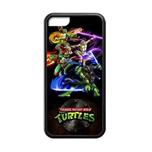 iPhone 5C Case Cartoon Teenage Mutant Ninja Turtles Have Own Skill Cover Cases for iPhone 5C TPU (Laser Technology)