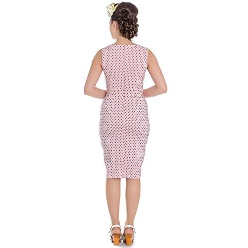Hell Bunny Etui Kleid Miley Pencil Dress 4664 Rosa 8Rx2YX1I