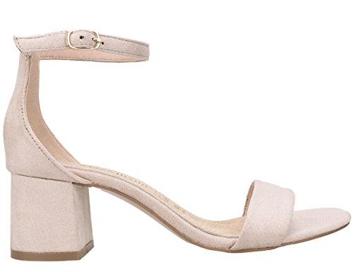 Zapatos beige con hebilla para mujer 1pohVMRO7
