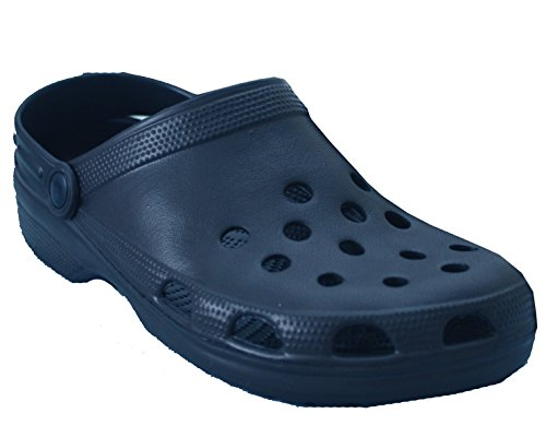 New Mens Clogs Boys Garden Nurse Summer Beach Kitchen Shoes Lightweight Sizes UK 7-11 Navy P4Df6d