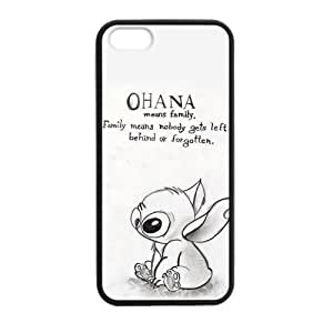 HOT Selling Funny Cute OHANA Classic Family Quote Phone Case for APPLE iphone 5c Best Durable Hard Plastic Case - White