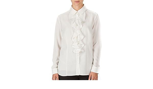 6faf43cfdf5b81 AmeriMark Ruffle Front Blouse at Amazon Women's Clothing store: