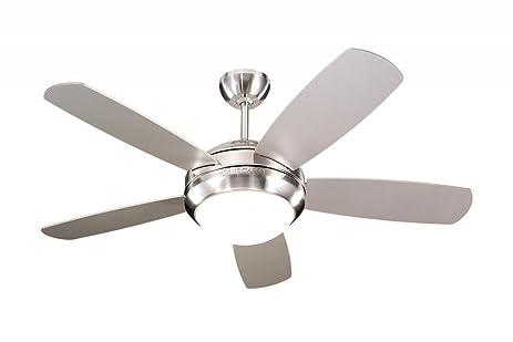 Monte carlo 5di44bsd discus ii 44 ceiling fan brushed steel monte carlo 5di44bsd discus ii 44quot ceiling fan brushed steel aloadofball Gallery
