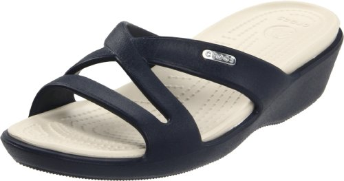 Stucco Navy Blue Sandals Patricia II Women's Crocs TYRwnv8Px