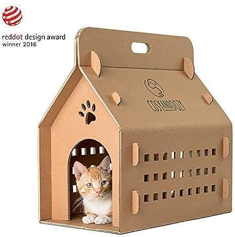 COSY AND DOZY Gato de Casa cart/ón, contenedor, soporte de gato, caja de transporte, gato cama