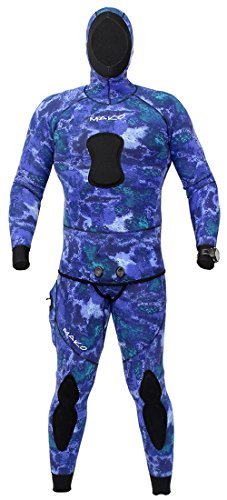 Farmer John Scuba Gear Wetsuits (Spearfishing Wetsuit 3mm 2 Piece Yamamoto Camo Blue Water (Medium-Large))