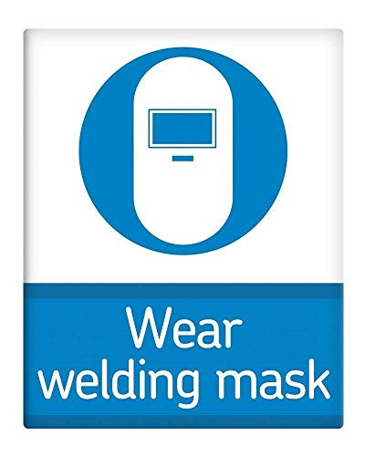 Metal Sign 8x12 Inches Wear Welding mask Workplace Safety Metal Sign SELF Adhesive Bar Vintage Kitchen Yard Garden Coffee Pub Home Gifts Art Decor from GRYD