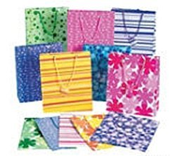 12 Medium Gift Bags - Assorted (Choose Your Style) (9 inch)