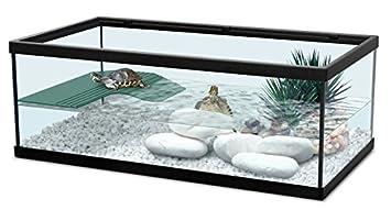 Zolux 55 Noir - Acuario para tortugas de agua (incluye filtro), color negro