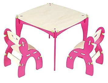 Astonishing Amazon Com Buildex Freedom Table And Chair Set Fuschia Baby Inzonedesignstudio Interior Chair Design Inzonedesignstudiocom