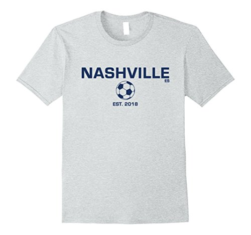 fan products of Mens 615Fashion Nashville Soccer T-Shirt Large Heather Grey