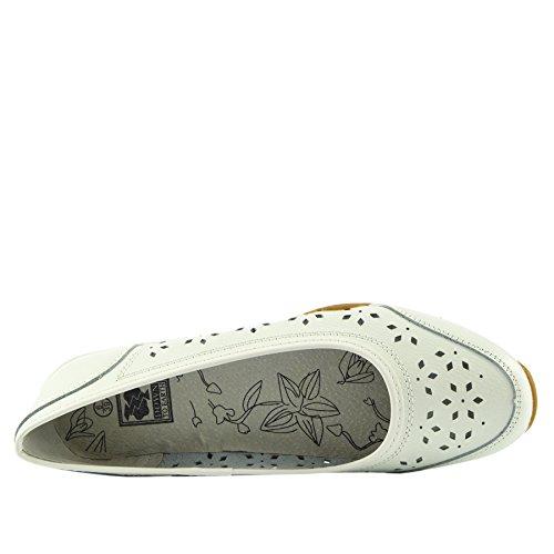 cómodos para zapatos mujer 2 de caminar zapatos zapatos señoras las Zapatos Blanco plano para lether calzado R1qaIw7x