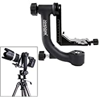Sevenak SK-GH01 Professional Heavy-duty Panoramic Time lapse Tripod Gimbal Head with Arca-Swiss Quick-Release Plate for Canon Nikon Olympus Sony DSLR Cameras Camcorders