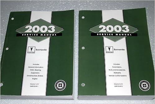 2003 Pontiac Bonneville Service Repair Manual Set