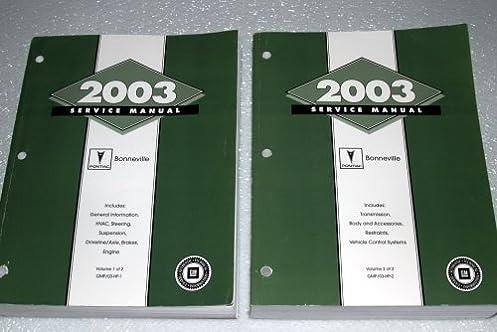 2003 pontiac bonneville service manual 2 volume complete set rh amazon com 2006 Pontiac Bonneville 2005 Pontiac Bonneville