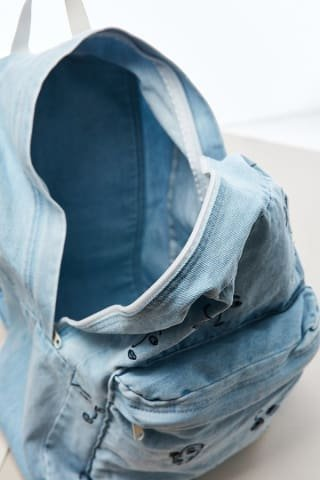The Style Club - Faces of Love Denim Backpack by CLUB STYLE (Image #3)