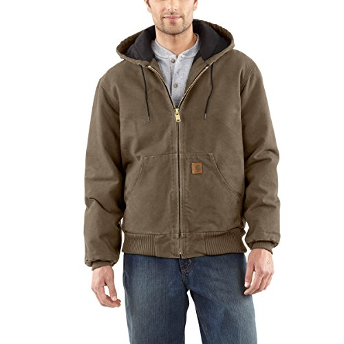 Carhartt Duck Lined Jacket - Carhartt Men's Quilted Flannel Lined Duck Active Jacket J130,Light Brown,XX-Large