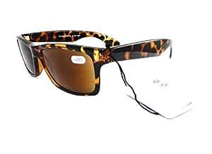 Ojos Magnif sabana lectura gafas de sol unisex + 1,00Browns negro Magn. UV 400RRP £ 19.95