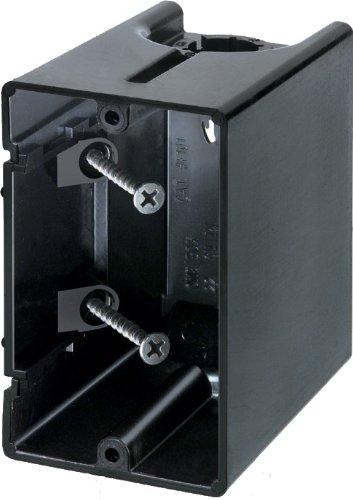 Arlington Industries F101 1-Gang Vertical Outlet Side Mount Box, 50-Pack