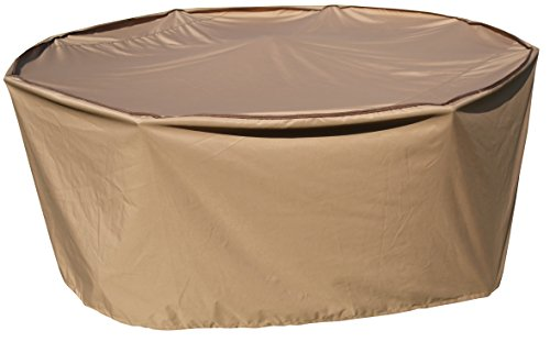 (SORARA Round Table and Chair Set Cover Outdoor Porch Furniture Cover, Water Proof, All Weather Protection, 84'' Dia.)