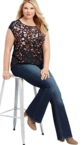 maurices Women's Plus Size Denimflex Dark Wash Bootcut Jean 20W Dark Sandblast by maurices