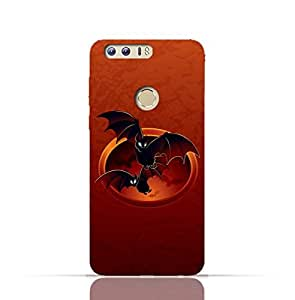 Huawei Honor 8 TPU Silicone Case with halloween-bats Design