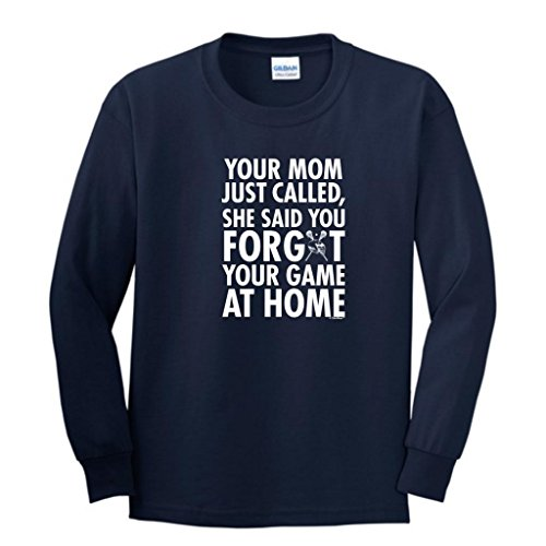 Forgot Your Game Lacrosse Youth Long Sleeve T-Shirt Large Navy ()