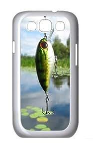 Fish Bait Custom Hard Back Case Samsung Galaxy S3 SIII I9300 Case Cover - Polycarbonate - White