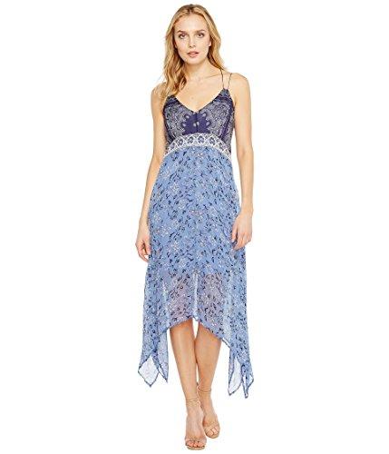 家禽精神医学眠いです[ラッキーブランド] Lucky Brand レディース Scarf Print Dress ドレス Navy Multi XS (US 0-2) [並行輸入品]