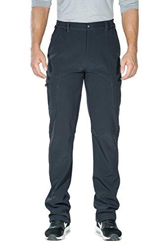 Nonwe Men's Outdoor Winter Water Resistant Fleece lined Cargo Snow Hiking Pants Gray S