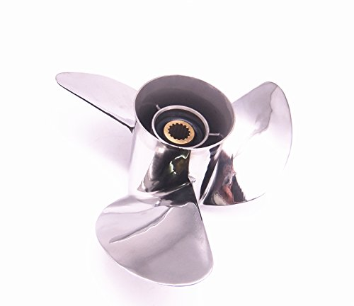 Boat Motor Stainless Steel Propeller 13x17-K For Yamaha 6...