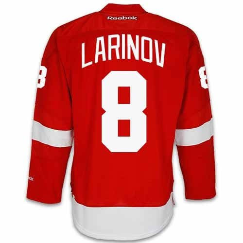 Igor Larionov Detroit Red Wings Home Jersey by Reebok, Red, Medium